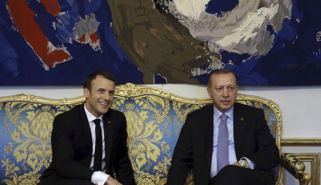 Μακρόν και Ερντογάν στο Ελιζέ, Ιανουάριος 2018