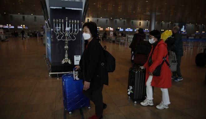 Τουρίστες από την Κορέα στο αεροδρόμιο Μπεν Γκουριόν του Ισραήλ