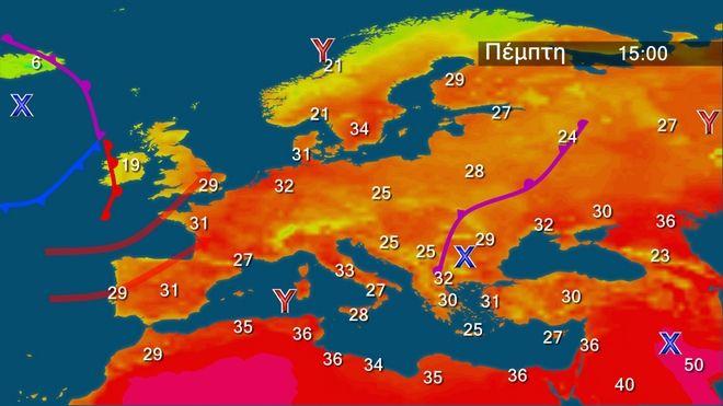 Κανονικές θερμοκρασίες - Τοπικά έντονα φαινόμενα στα ηπειρωτικά