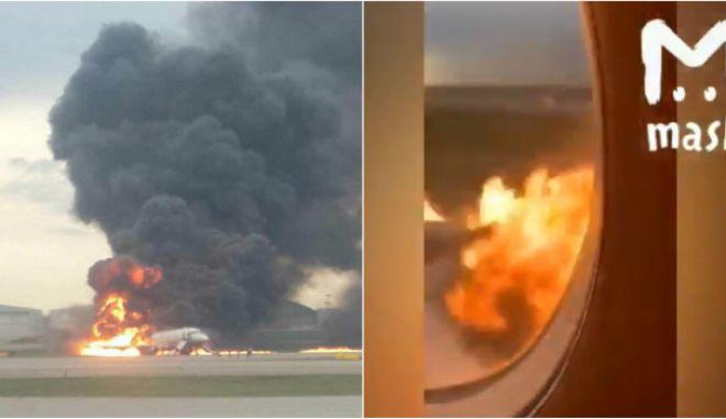 Μόσχα: Ντοκουμέντο μέσα από το φλεγόμενο Superjet - Πώς αναπήδησε και πήρε φωτιά