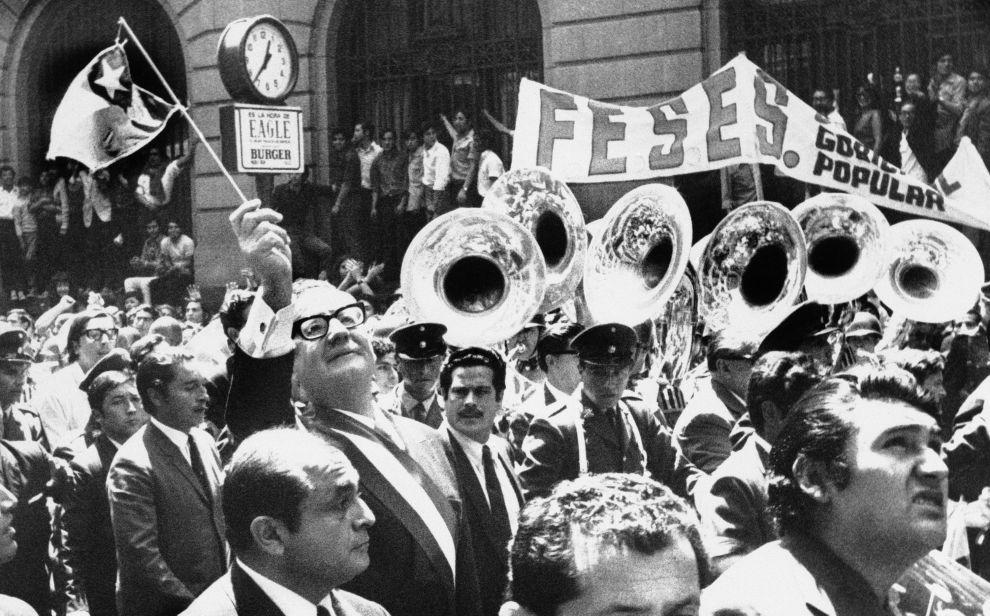 Ο Σαλβαδόρ Αλιέντε σε εκδήλωση της