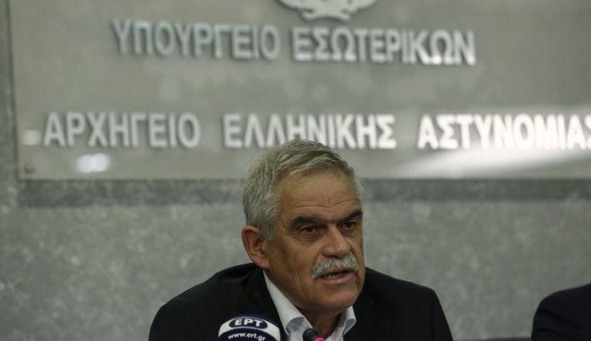 Ο υπουργός Προστασίας του Πολίτη, Νίκος Τόσκας