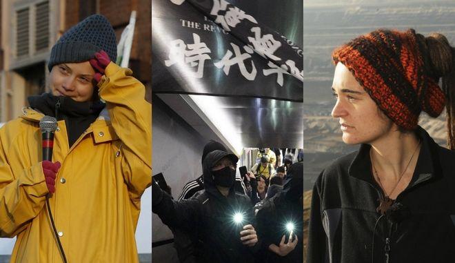 """Τα πρόσωπα που """"χάραξαν"""" το 2019: Από την Καρόλα Ρακέτε στους φοιτητές του Χονγκ Κονγκ"""