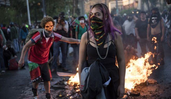 Αντικυβερνητικές διαδηλώσεις στη Χιλή