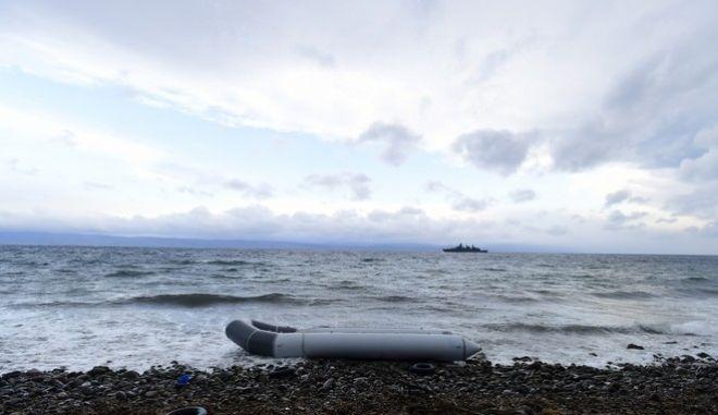 Βάρκα μεταναστών στη Λέσβο