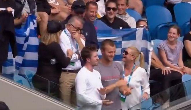 Australian Open: Βούρκωσε συγκινημένος ο πατέρας της Σάκκαρη