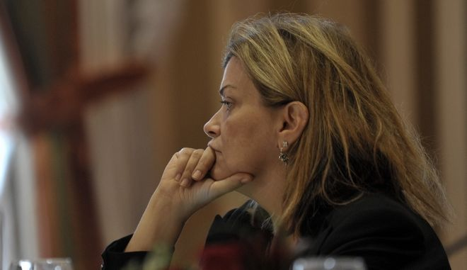 """Η υφυπουργός Εργασίας Ράνια Αντωνοπούλου σε πάνελ συνεδρίασης του 4ου Περιφερειακού Συνεδρίου για την Παραγωγική Ανασυγκρότηση """"Η Θεσσαλία της επόμενης ημέρας"""" την Τετάρτη 11 Οκτωβρίου 2017, στην Λάρισα. (EUROKINISSI/ΘΑΝΑΣΗΣ ΚΑΛΛΙΑΡΑΣ)"""