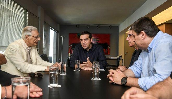 Συνάντηση του Προέδρου του ΣΥΡΙΖΑ, Αλέξη Τσιπρα  με το Διοικητικό Συμβούλιο του ΚΕΘΕΑ