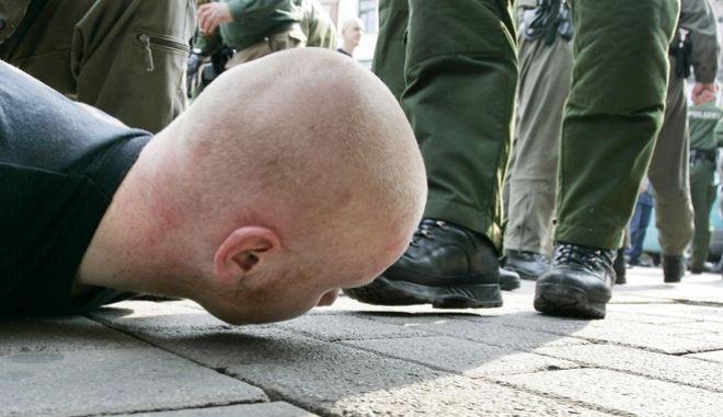 Σύλληψη νεοναζί στη Γερμανία. Φωτο αρχείου.