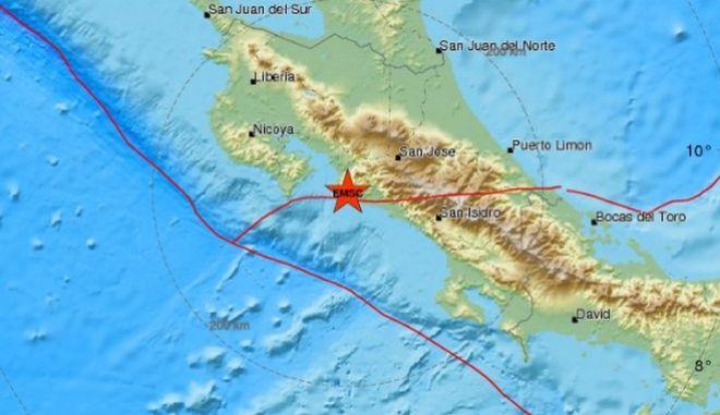 Ισχυρός σεισμός 6,5 Ρίχτερ στην Κόστα Ρίκα