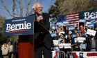 Ο Μπέρνι Σάντερς σε προεκλογική εκδήλωση στο Λας Βέγκας