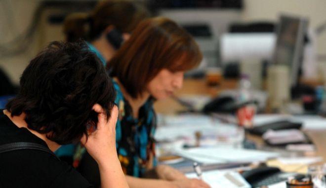 Δημοτικοί Υπάλληλοι,στιγμιότυπο από το ΚΕΠ του Δήμου τρικκαίων στα Τρίκαλα