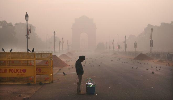 ο τοξικός αέρας της Ινδίας, καρέ από το Νέο Δελχί
