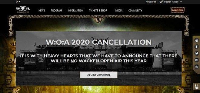Ακύρωση του Wacken Festival 2020