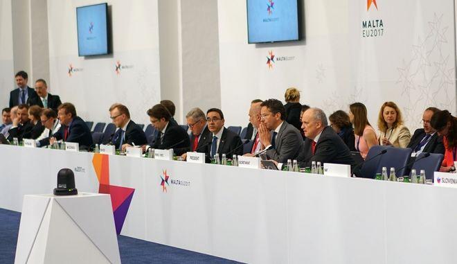 Συνεδρίαση του Eurogroup, την Παρασκευή 7 Απριλίου 2017, στην Μάλτα. (EUROKINISSI/ΕΥΡΩΠΑΪΚΗ ΕΝΩΣΗ)