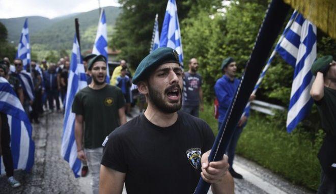 Από τη διαμαρτυρία στο Πισοδέρι κατά της συμφωνίας για την ονομασία της πΓΔΜ
