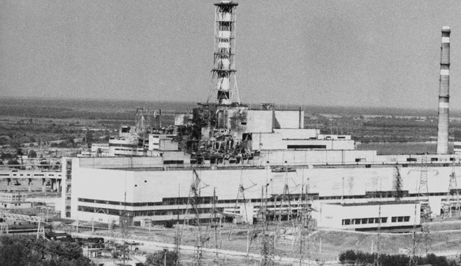 Ο πυρηνικός σταθμός του Τσερνομπίλ τον Μάιο του 1986