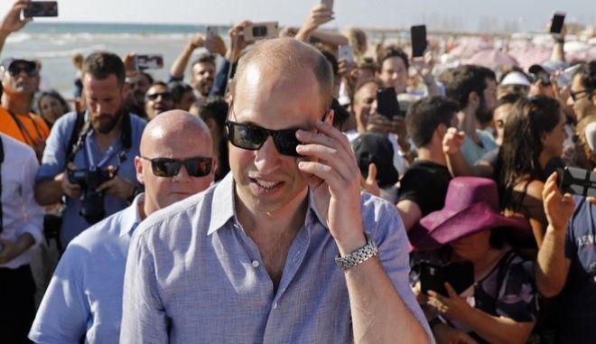 Πανζουρλισμός για τον πρίγκιπα Ουίλιαμ στο Τελ Αβίβ