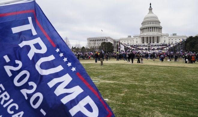 Υποστηρικτές του Τραμπ λίγο πριν την εισβολή στο Καπιτώλιο