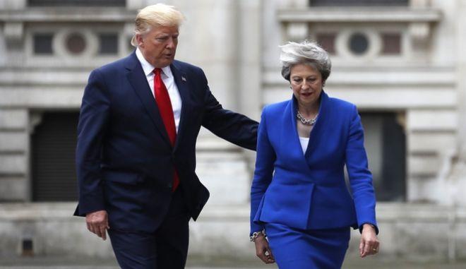 Συνάντηση Τραμπ - Μέι στη Βρετανία