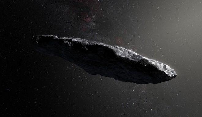 Καλλιτεχνική απεικόνιση του αστεροειδούς Ουμουαμούα