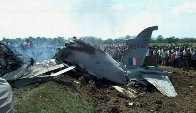 Συντρίμμια ινδικού μαχητικού αεροσκάφους