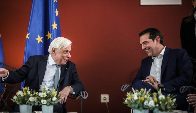 Αλέξης Τσίπρας - Προκόπης Παυλόπουλος