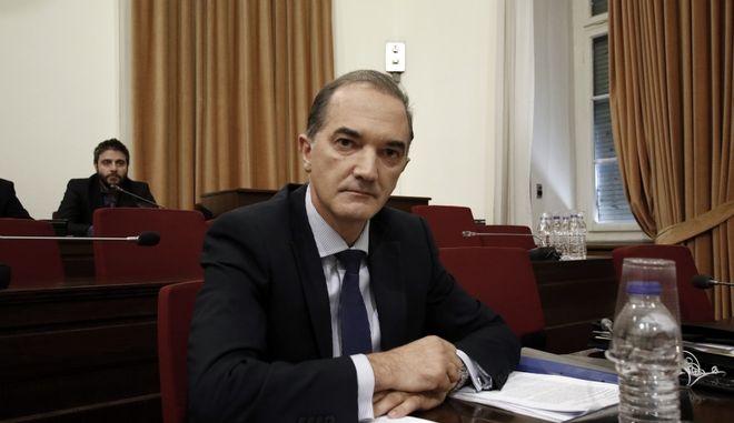 Συνέχιση της εξέτασης του Μάριου Σαλμά(φωτό) στην Εξεταστική Επιτροπή της Βουλής για τη διερεύνηση σκανδάλων στο χώρο της Υγείας κατά τα έτη 1997- 2014, την Τρίτη 19 Σεπτεμβρίου 2017. (EUROKINISSI/ΓΙΩΡΓΟΣ ΚΟΝΤΑΡΙΝΗΣ)