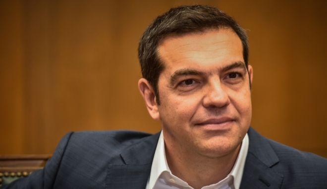 Ο Αλέξης Τσίπρας στη συνεδρίαση του Υπουργικού Συμβουλίου