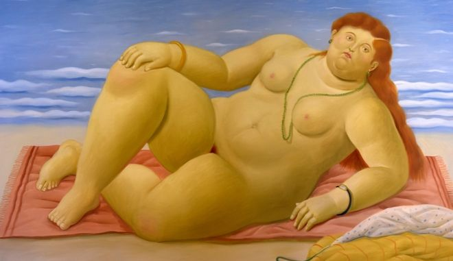 KP5KNR Painting in the Botero Museum, art work by Fernando Botero,Bogota,Colombia,South America.