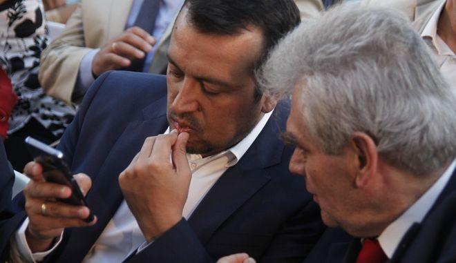 Ο Νίκος Παππάς και ο Δημήτρης Παπαγγελόπουλος (Φωτογραφία αρχείου)