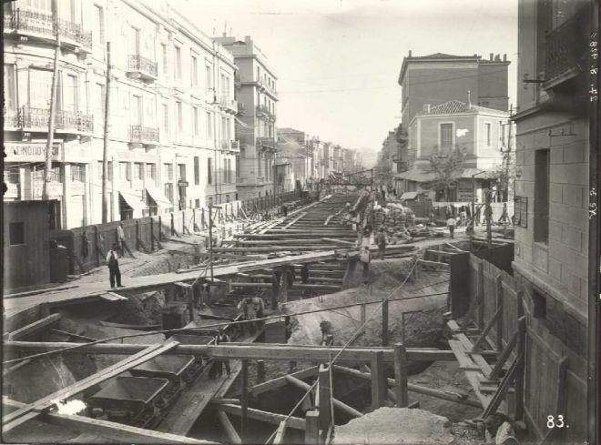 Κατασκευή σήραγγας Ομόνοια - Αττική, 1928