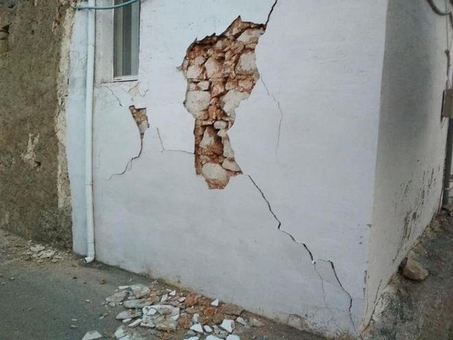 Σεισμός 4,8 Ρίχτερ στο Αρκαλοχώρι Κρήτης - Ζημιές σε παλαιά κτίρια