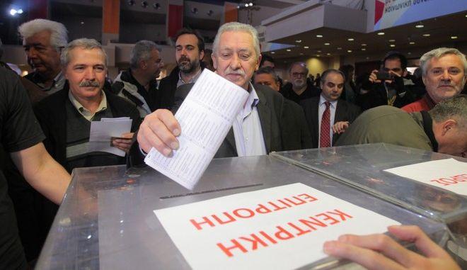 Στιγμιότυπο από το 2ο συνέδριο της ΔΗΜΑΡ που ολοκληρώνει σήμερα τις εργασίες του,με την εκλογή προέδρου και νέας Κεντρικής Επιτροπής,Κυριακή 15 Δεκεμβρίου 2013 (EUROKINISSI/ΚΩΣΤΑΣ ΚΑΤΩΜΕΡΗΣ)