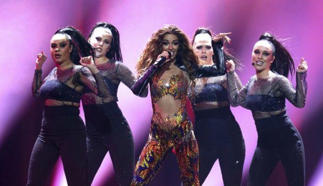 Η Ελένη Φουρέιρα στη σκηνή της Eurovision
