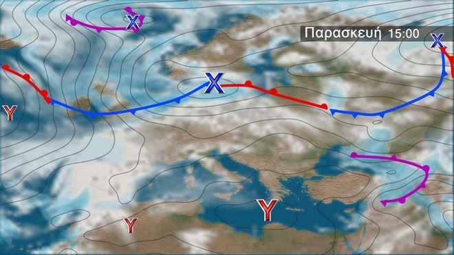 Ο καιρός στην Ευρώπη την Παρασκευή