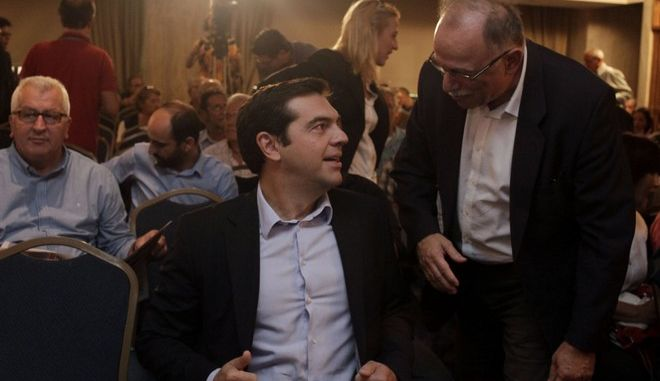 Συνεδρίαση της Κεντρικής Επιτροπής του ΣΥΡΙΖΑ το Σάββατο 18 Οκτωβρίου 2014. (EUROKINISSI/ΓΙΩΡΓΟΣ ΚΟΝΤΑΡΙΝΗΣ)