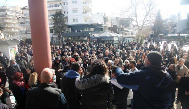 Εύοσμος: Συγκέντρωση και πορεία κατά του lockdown και... μεταναστών