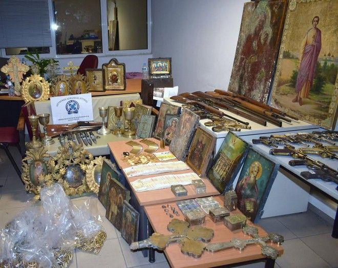 Αντικέρ συνελήφθη στη Θεσσαλονίκη για αρχαιοκαπηλία με πλήθος από βυζαντινές εικόνες