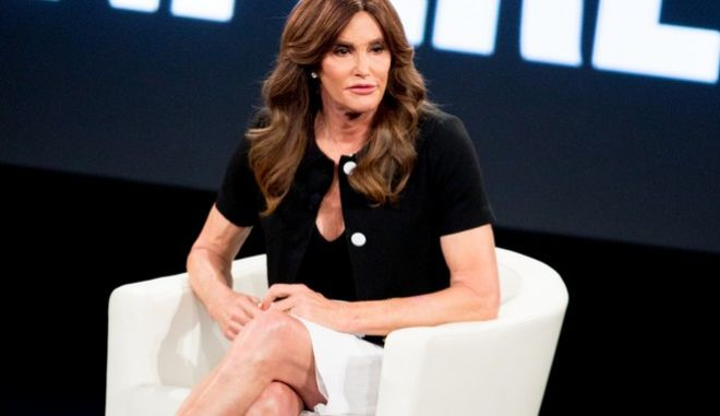Caitlyn Jenner speaks at the 2nd Annual MAKERS Conference at Terranea Resort on Tuesday, Feb. 2, 2016, in Rancho Palos Verdes, Calif. (Photo by Rich Fury/Invision/AP)