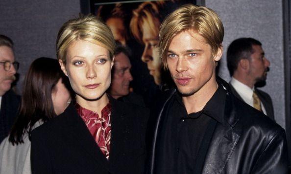 Gwyneth Paltrow and Brad Pitt during