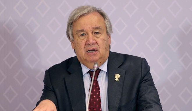 Ο γενικός γραμματέας του ΟΗΕ Αντόνιο Γκουτέρες σε συνέντευξη Τύπου στην Ταϊλάνδη