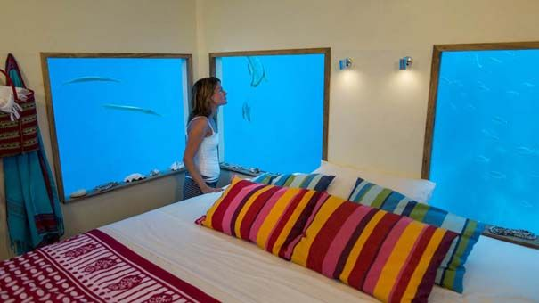 Δωμάτιο κάτω από τη θάλασσα με θέα το βυθό