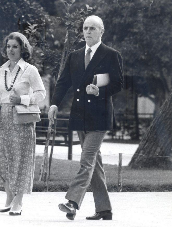 Ο Κωνσταντίνος Καραμανλής το 1975