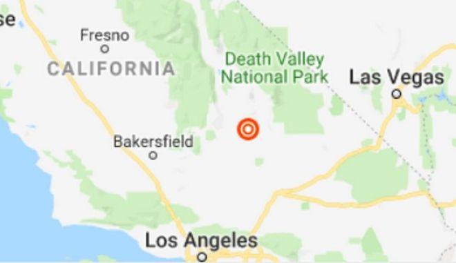 Το επίκεντρο του σεισμού στην Καλιφόρνια