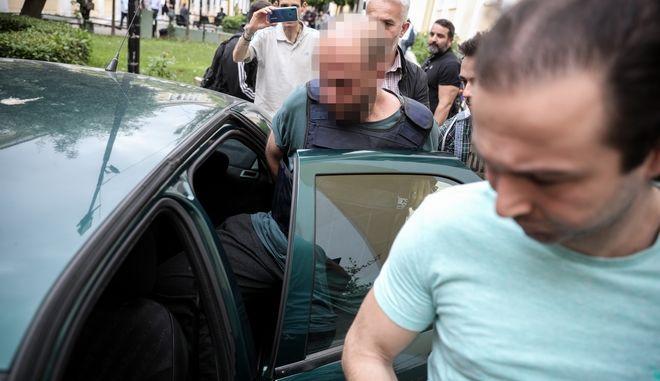 Ο 42χρονος κατα την έξοδό του από τα γραφεία του ανακριτή μετα την απολογία του την Δευτέρα 27 Μαΐου 2019