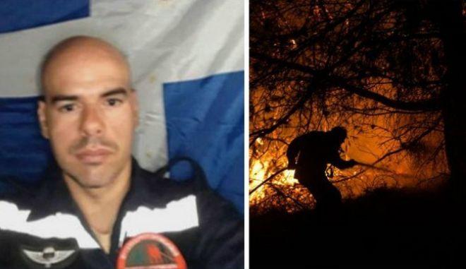 Συγκλονίζει ο εγκαυματίας πυροσβέστης στην Εύβοια: Μας είχε περικυκλώσει η φωτιά