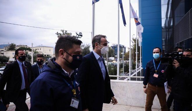 Ο Κυριάκος Μητσοτάκης και ο Νίκος Χαρδαλιάς