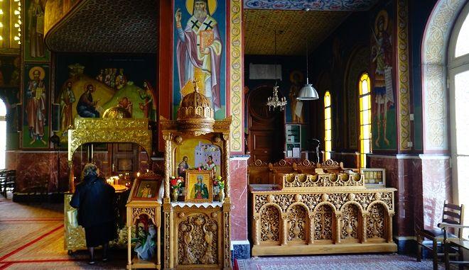 Εσωτερικό εκκλησίας (φωτογραφία αρχείου)