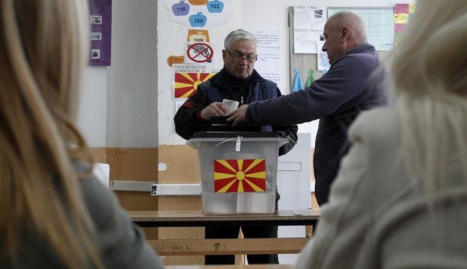 Στιγμιότυπο από τις εκλογές του 2016 στα Σκόπια
